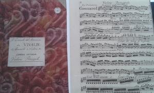 Antonio Vivaldi - kopia av noter från Leufsta, nu på Uppsala Universitetsbibliotek