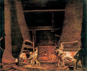 Smedja i Leufsta - Pehr Hilleström 1787