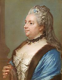 Catharina Charlotta Ribbing - målning av Gustaf Lundberg
