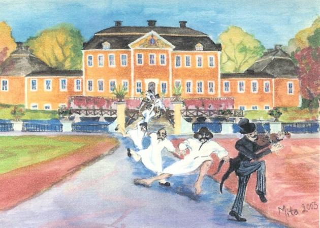 Smed-dansen Mita Bromark, akvarell