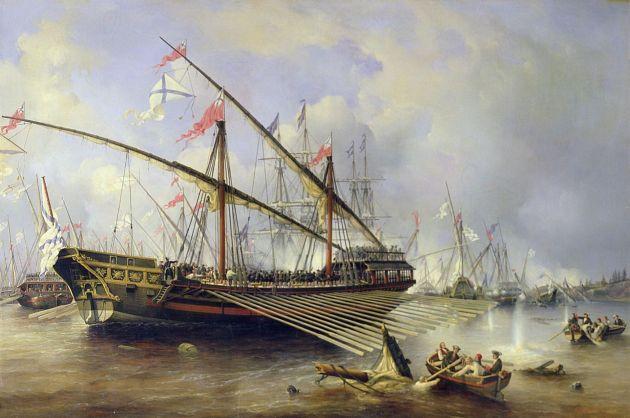 Victor Perrot: Russische Galeere vor Garnhamn