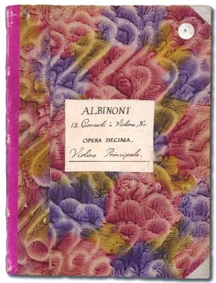 Albinoni. Omslag EA x