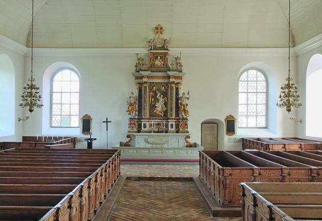 Kyrkan i Lövstabruk är en av landets finaste kyrkor från senbarocken. foto: Gabriel Hildebrand, 2015.