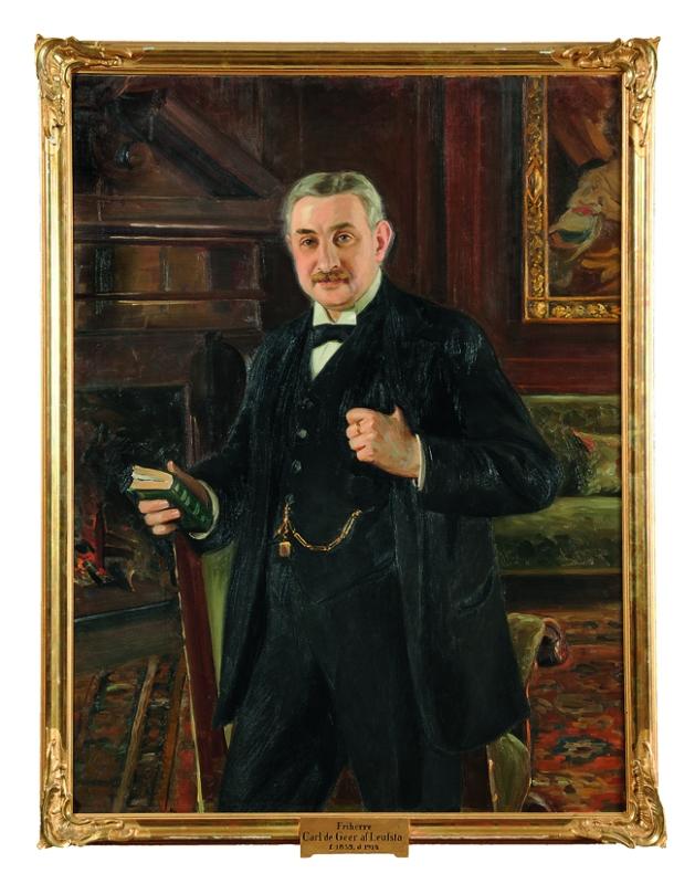 """Carl de Geer, """"der gute Baron Carl"""", (1859–1914) im Herrenhof von Lövstabruk. foto: Gabriel Hildebrand, 2018."""